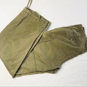 Banana republic drawstring bottom cargo pants